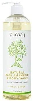 Puracy Baby Shampoos & Natural Body Wash, With Pump Bottle (2-Pack)