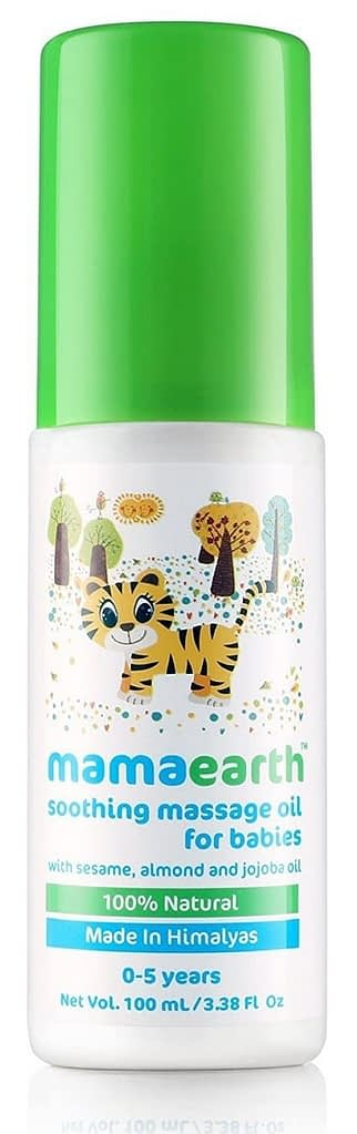 Mamaearth Soothing Oil 100% natural oils for babies and kids,100ml
