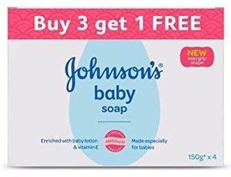 Johnson's Baby Soaps 150g (Buy 3 Get 1 Free)