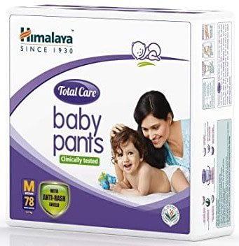 Himalaya Total Care Baby Pants Diapers, Medium (78 Count)