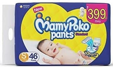 MamyPoko Pants Standard Baby Diapers, Small (46 Count)