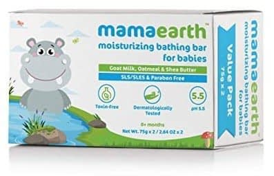 Mamaearth Moisturizing Baby Bathing Soaps Bar, Pack of 2 (75gms Each)