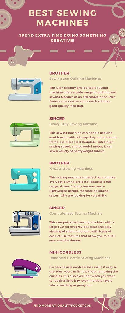 Sewing Machine infographic