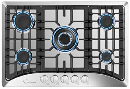 Empava Stainless Steel 30 inch gas cooktop EMPV-Silver -min