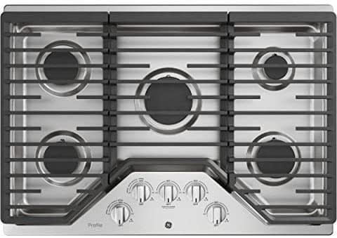 GE 30 Inch Gas Cooktop Stainless Steel JGP5030SLSS-min