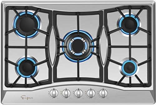 Empava Stainless Steel 30 inch gas cooktop with Sabaf Burners -min