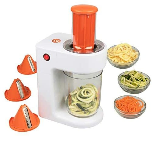 MasterChef Electric Spiralizer- 3-in-1 Vegetable Noodle Pasta Maker