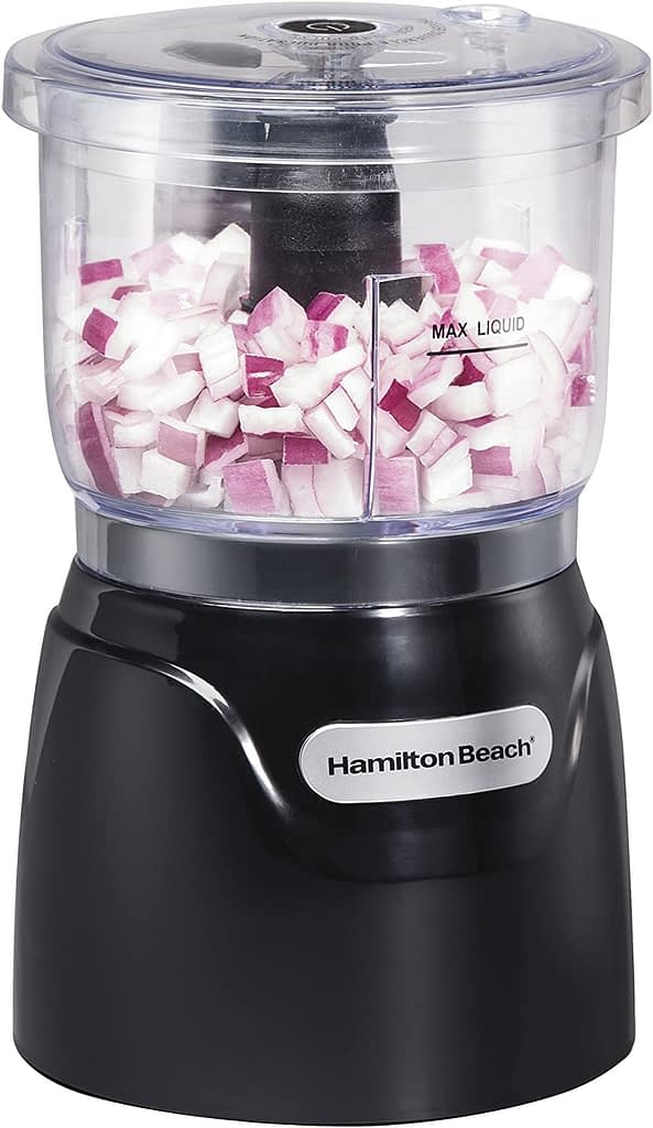 Hamilton Beach Food Processor & Vegetable Chopper Compact 3-Cup