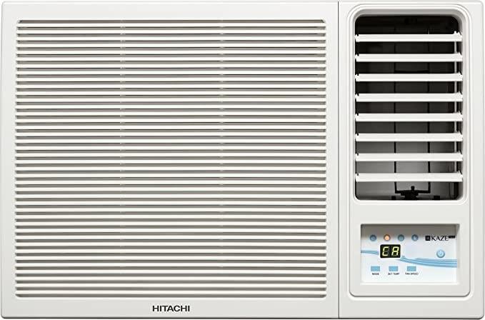 Hitachi 1 Ton 5 Star Window Air Conditioner (RAW511KUD Kaze Plus White)