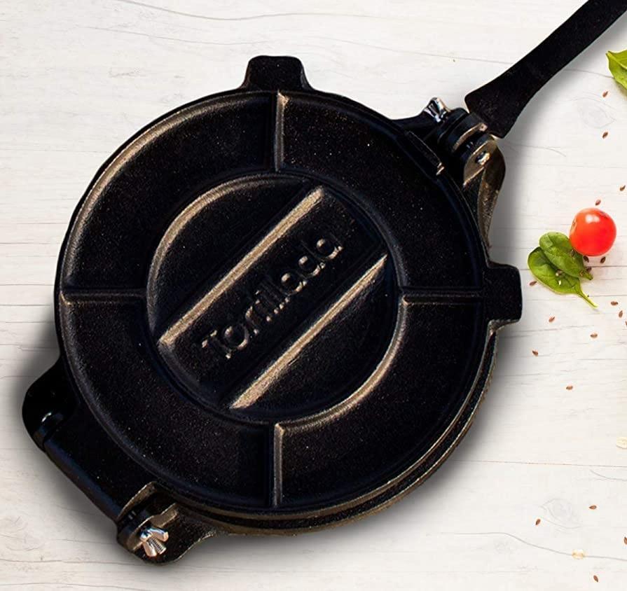 Tortillada – Premium 10 Inch cast iron Tortilla Press for flour tortillas-