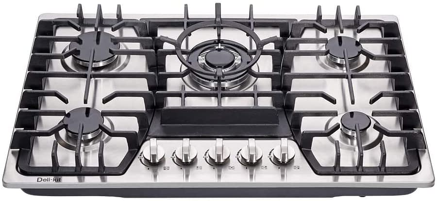 Deli-kit Stainless Steel 30 inch Gas Cooktops with Dual Fuel Sealed-min