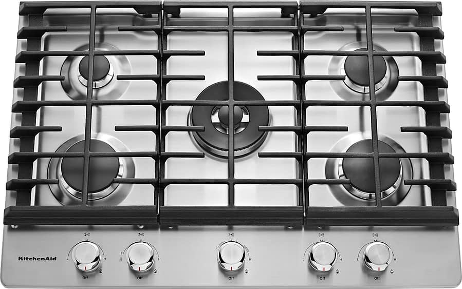 KitchenAid Gas Cooktop KCGS550ESS with 5 Sealed Burners-min