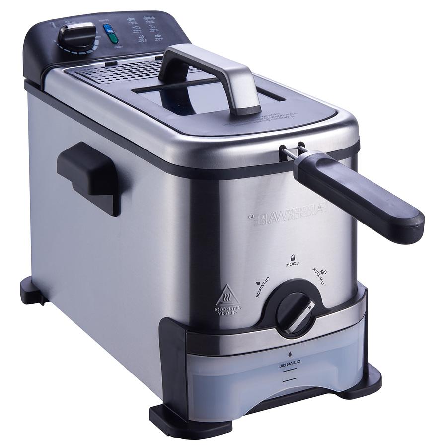 Farberware Deep Fryer - 3-Liter Filter Fryer, Stainless Steel