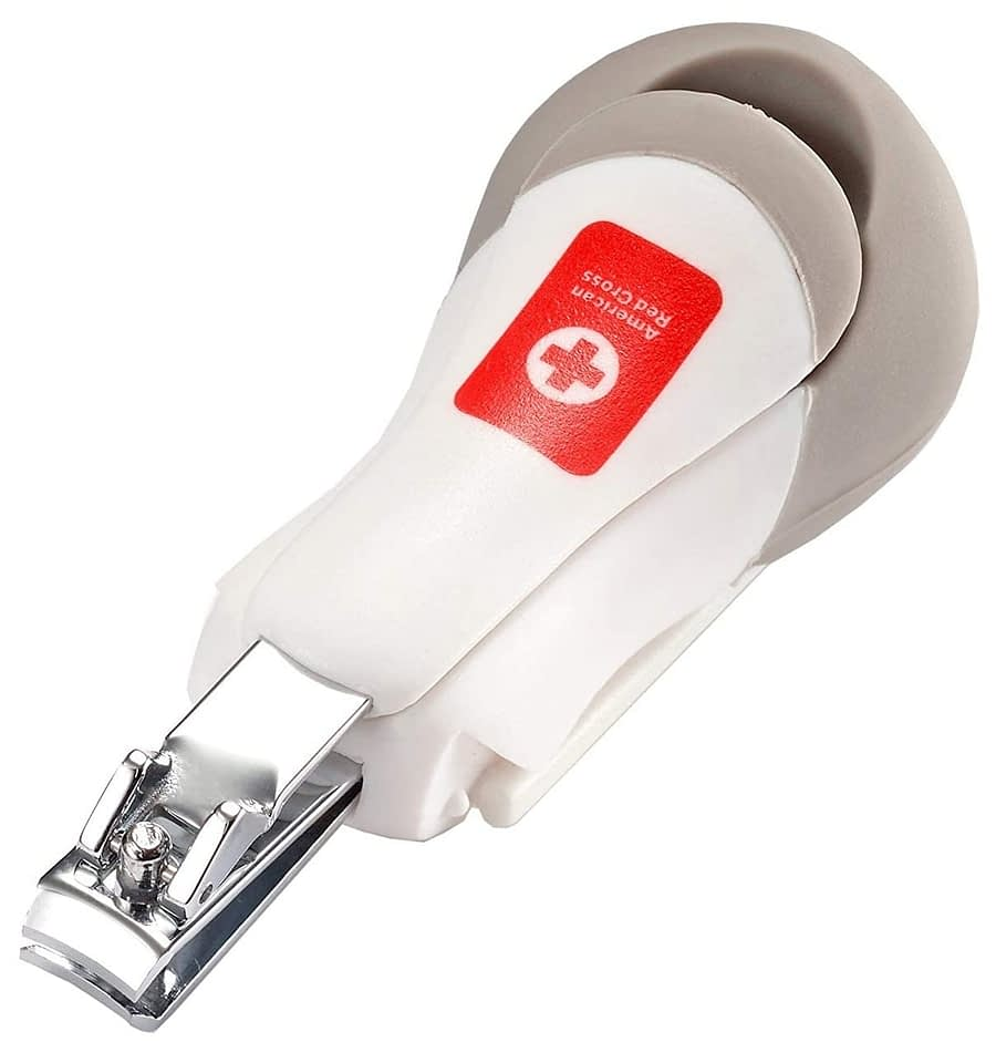 The First Years American Red Cross Deluxe Baby Nail Clipper with Magnifier